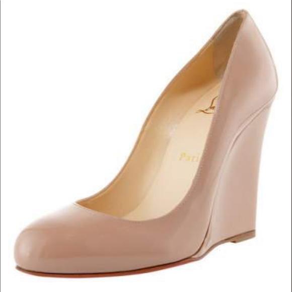 fbbd812d0b0 Christian Louboutin Nude Wedge Shoes
